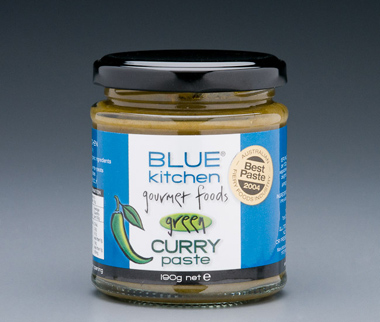 blue kitchen gourmet foods green thai style curry paste | blue