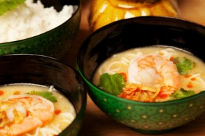 Green Curry Garlic Prawns