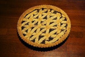 MULBERRY AND DAVIDSON'S PLUM CONSERVE LINZERTORTE